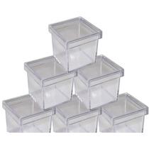 50 Caixinha De Acrilico 5x5x5 Transparente Lembrancinha