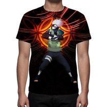 Camisa, Camiseta Naruto Kakashi 2 - Estampa Total