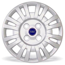 Jogo Calota Uno Fire 04 05 Aro 13 Fiat Grid Emblema Resinado