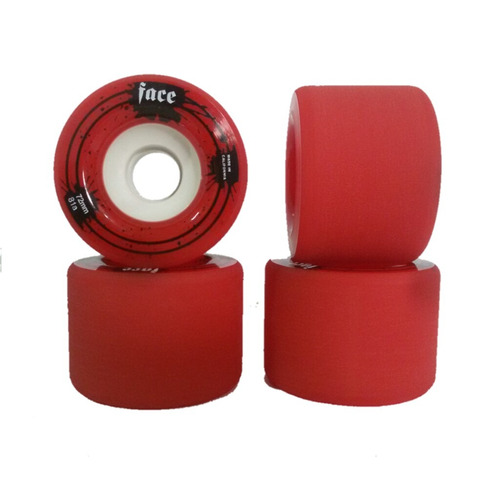 Rodas Longboard Face Vermelha 72mm 81a Freeride Slide Dhs