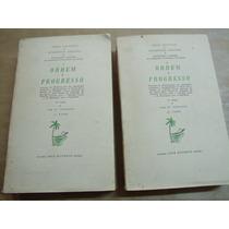 Ordem E Progresso Gilberto Freyre 2 Vol Otimo Estado 1962