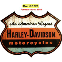 Quadros Retro Harley Davidson Route 66 Ford Coca-cola Shell