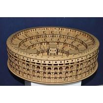 Miniatura Coliseu De Roma 3d Em Madeira Mdf Cru Artesanato