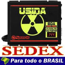 Fonte Usina Spark 60 Amperes Voltimetro Bivolt +frete+brinde