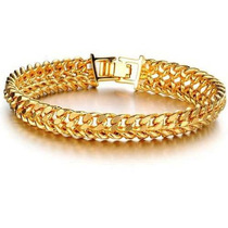 Pulseira Feminina Bracelete Folheada A Ouro Rose 18k