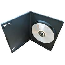 100 Capa Caixinha Dvd Amaray Box Estojo Preta / Transparente