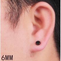 Par Brinco Pressão Magnético Masculino Estilo Alargador 6 Mm