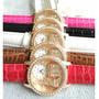 Relógio Customizado Importado Pulseira De Couro Torre Heifel