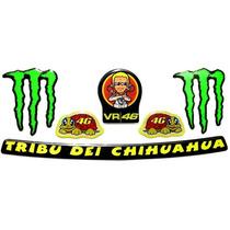 Kit Adesivos Capacete Valentino Rossi Tribu Dei Chihuahua