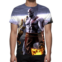 Camisa, Camiseta God Of War Kratos 3 - Estampa Total