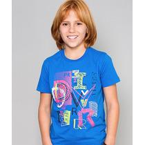 Camiseta Infantil Gola Careca Paco Kids - Azul