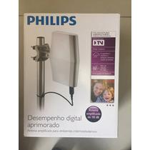 Antena Philips Tv Digital Amplificada 18db Interno / Externo