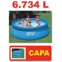 Piscina Intex 6734 Litros Com Capa 366 Cm 3,66 M Ñ 5621