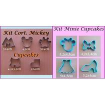 Cortador Minnie E Mickey P/ Cupcake,biscoito,pasta Americana