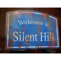 Placa Welcome To Silent Hill Terror Game