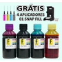 800ml Tinta Formulabs Recarga Cartucho Hp Canon + Snap Fill