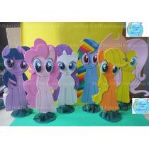 6 Enfeites De Mesa Bolo My Little Pony Decoração Festa