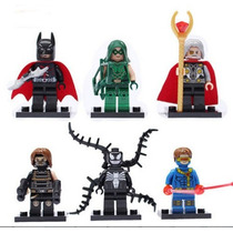 Kit Com 6 Bonecos Odin, Cyclop Entre Outros Similar Lego