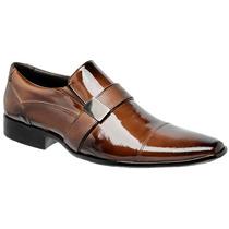 Sapato Social Masculino Em Couro Verniz Lançamento Exclusivo