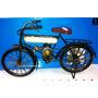 Miniatura Retro Vintage Bicicleta Antiga Passeio 1/12