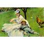 Esposa E Filho Do Pintor Monet Reprodução De Renoir Na Tela