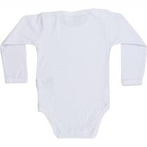 Body Infantil Bebê Liso Manga Curta Longa Preto Branco Roupa