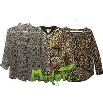 Camisa*blusa Feminina Estampada Oncinha - Pronta Entrega