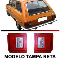 Par Lanterna Traseira Belina 73 74 75 76 77 Tampa Reta