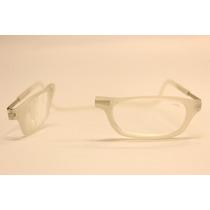 Óculos Clic - 100% Original - Veja Vídeo - Cor Branco Fosco