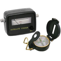 Satelite Finder Analógico + Bussola Plastica 8978