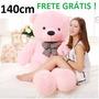 Urso De Pelúcia Grande Teddy Rosa 140cm 1,4m Frete Grátis