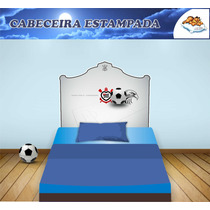 Cabeceira Adesiva Corinthians Cama Box Solteiro + 01 Brinde