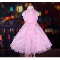 Vestido Infantil Festa/ Florista/dama Lindo Decote Americano