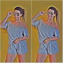 Conjunto Viscolycra Pedrarias Roupas Femininas Promoção Moda