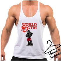 Camiseta World Gym Compre Em 6x Sem Juros