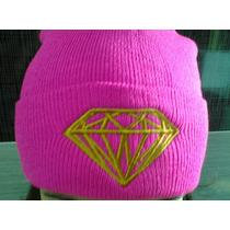 Touca / Gorro Diamond Pink Com Presente No Brasil