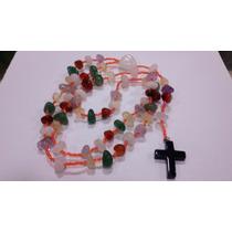 Terço De Pedras Mistas/ametista/citrino/onix/rosa/cristal