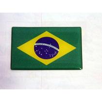Adesivo Resinado Bandeira Brasil