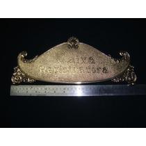 Registradora National Placa De Cima Da Caixa Em Bronze Rara