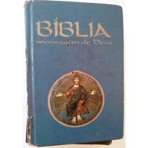 Biblia Mensagem De Deus Ediçoes Loyola Livro Bolso Azul