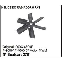 Helice Do Radiador 6 Pás Ferro Caminhão F-4000 F-2000 Ford