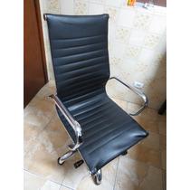 Cadeira De Escritório - Tok & Stok Em Couro