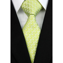 Gravata Seda Estampa Miuda Verde Gvt 1061