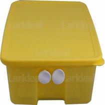 Tupperware Fresh Smart Quadrado 1,6 Litros - Amarelo