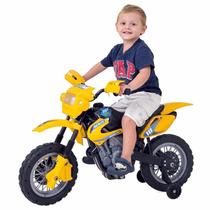Moto Elétrica Infant Motocross - Amarela - Homeplay