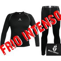 Roupa Térmica Conjunto Segunda Pele Wolfbike (calça + Camisa