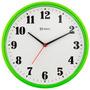 6126s- Relógio Parede Verde Sem Tic-tac Continuo Sweep 26 Cm