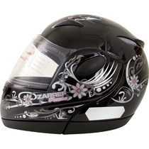 Capacete Moto Taurus Zarref V3 Robocop Feminino Preto 56