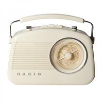Radio Retrô De Mesa Branco