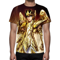 Camisa, Camiseta Cavaleiro Do Zodíaco Seiya - Estampa Total